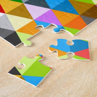 Puzzle Motif coloré génial lumineux moderne de triangles