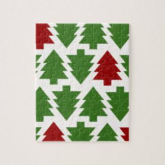 Puzzle Motif de vacances d'arbres de Noël