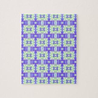 Puzzle Motif en pastel turquoise de connexions de lavande