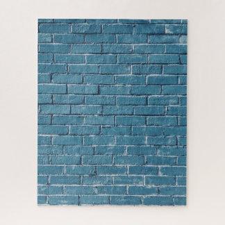 Puzzle Mur de briques bleu