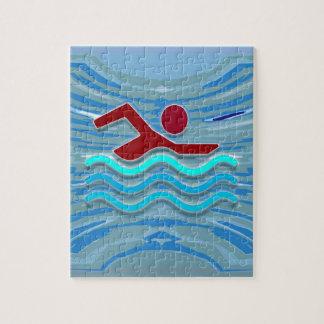 Puzzle Natation de forme physique d'exercice de nageur de