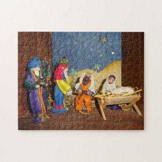 Puzzle Nativité de Noël de rois de Jésus Mary trois