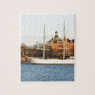Puzzle Naviguant à Stockholm, la Suède