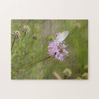 Puzzle Nectars bleus de papillon de Ceraunus sur une
