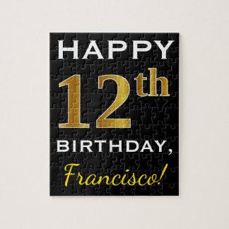 Puzzle Noir, anniversaire d'or de Faux 12ème + Nom fait