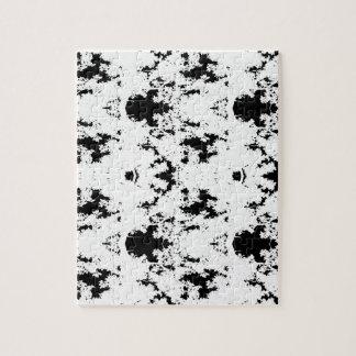Puzzle noir de formes