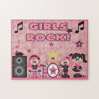 Puzzle Noir de rose de musique de groupe de rock de