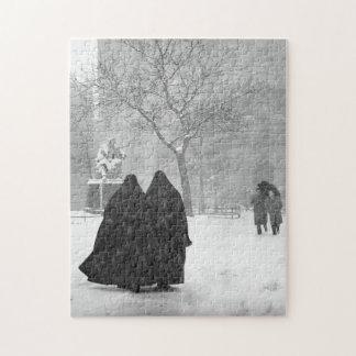 Puzzle Nonnes dans la neige