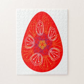 Puzzle Oeufs de pâques alignés avec le mandala différent