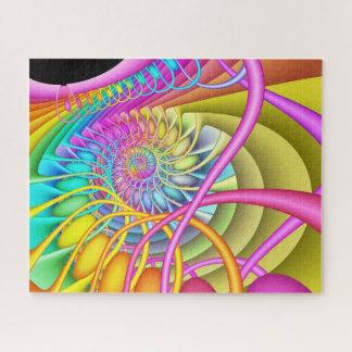 Puzzle Oeufs en pastel en spirale de fractale
