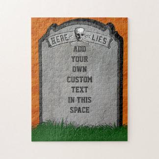 Puzzle Os croisés graves de crâne de pierre tombale