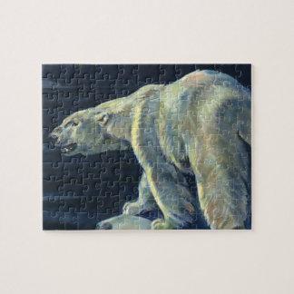 Puzzle Ours blanc vintage, animaux arctiques d'espèce