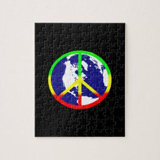 Puzzle Paix du monde sur le noir