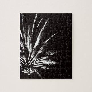 Puzzle Palmier noir et blanc personnalisable