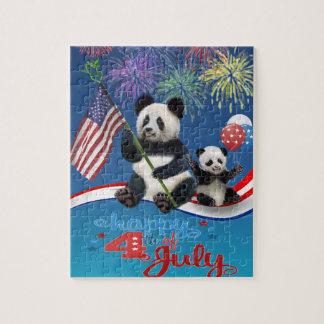 Puzzle Pandas patriotiques