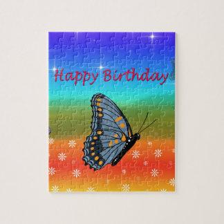 Puzzle Papillon de joyeux anniversaire