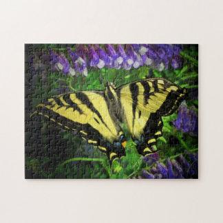 Puzzle Papillon noir et jaune
