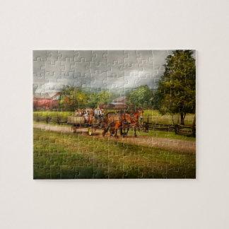 Puzzle Pays - cheval - les plaisirs de la vie