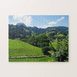 Puzzle Paysage vert
