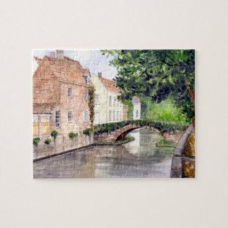 Puzzle Peinture d'aquarelle de Bruges par Farida