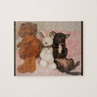 puzzle petit chihuahua marron nounours peluches
