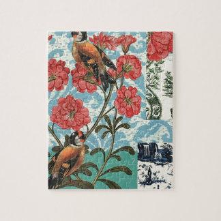 Puzzle Petits oiseaux et fleurs