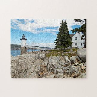 Puzzle Phare de point de Robinson, Au Haut, Maine d'île