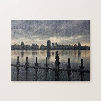 Puzzle Photo de lever de soleil de réservoir de New York