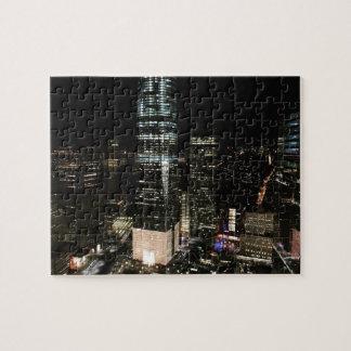 Puzzle Photo d'horizon de la nuit NYC Manhattan de New