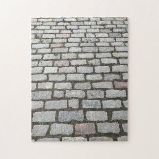 Puzzle Photo en pierre de la voie NYC de pavés ronds de