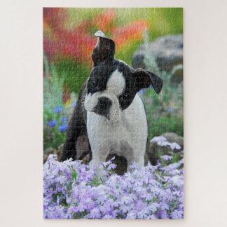 Puzzle Photo principale animale de chiot mignon de chien