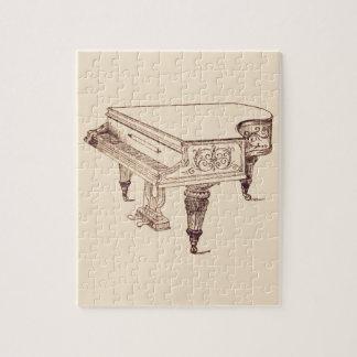 Puzzle Piano de joueur vintage
