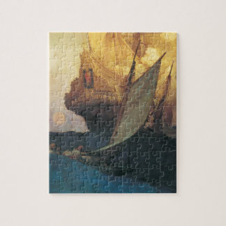 Puzzle Pirate vintage, attaque sur un galion par Howard