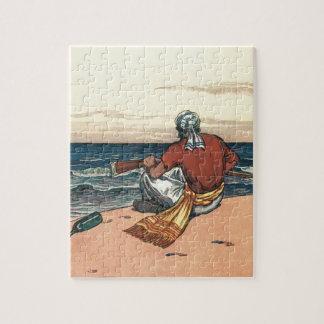 Puzzle Pirates vintages, abandonnés sur une île