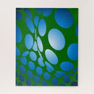 Puzzle Points verts et bleus déformés