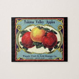 Puzzle Pommes vintages de vallée de Yakima d'art