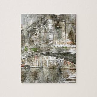 Puzzle Pont dans des canaux de Venise Italie