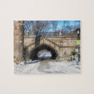 Puzzle Pont en pierre - Central Park en hiver