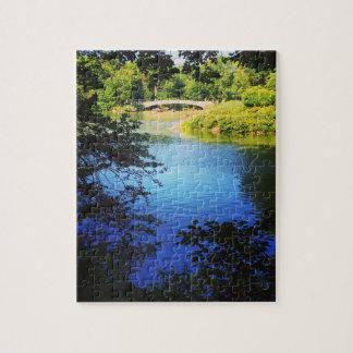 Puzzle Pont New York City d'arc de lac central Park de