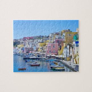 Puzzle Port de pêche coloré de l'Italie