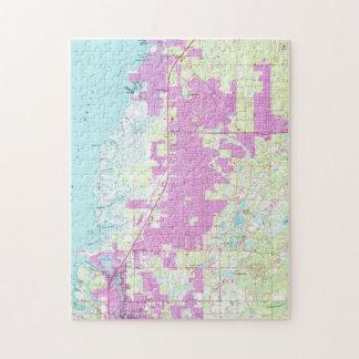 Puzzle Port Richey et nouveau port Richey la Floride Map