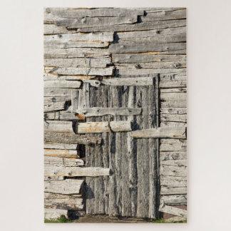 Puzzle Porte patinée dans un mur patiné