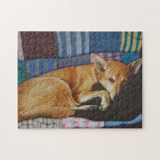 Puzzle portraits de chien de race de croix de Labrador de