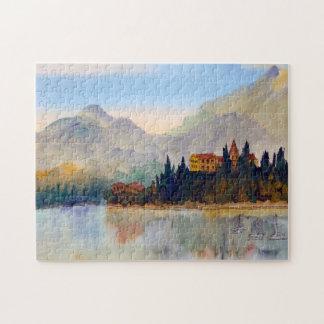 Puzzle pour aquarelle de Como Italie de lac