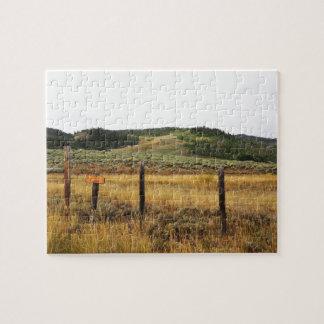 Puzzle prairie dans le Colorado