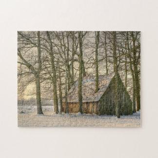 Puzzle Première neige de l'hiver