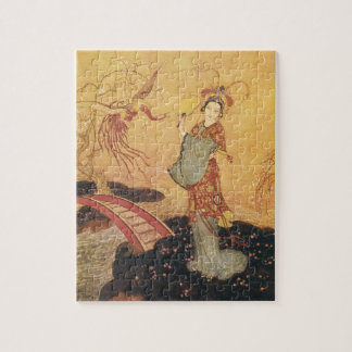 Puzzle Princesse vintage Badoura, Edmund Dulac de conte