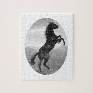 Puzzle Produits multiples de beau cheval noir choisis