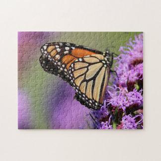 Puzzle Profil de papillon de monarque