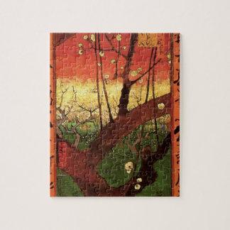 Puzzle Prunier fleurissant japonais de Van Gogh,